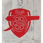 Red 'Arsenal Cannon' Wall Art