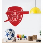"""""""Arsenal Cannon"""" Wall Art in a Children's Play Room"""