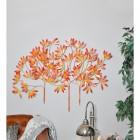 """Autumn Bushes"" Wall Art in a Orange Finish"