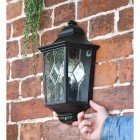 """Avebury Manor"" Traditional Half Lantern Wall Light to Scale"