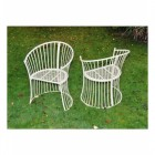 """Chairs From the """"Avery"""" Cream Garden Furniture Set"""