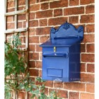 Azure Sky Goldhay Secure Post and Parcel Box Fitted to brick wall