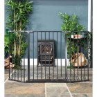 Front View of the Baby Dan Black Hearth Fireguard