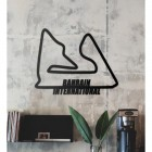 Bahrain International Racing Circuit Wall Art in the Living Room