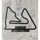 Bahrain International Racing Circuit Wall Art on a Rustic Grey Wall