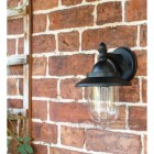 Bakewell Classic Black Wall Lantern Close Up