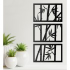 Bamboo Wall Art in Situ by Plants