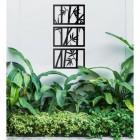 Bamboo Wall Art in Garden