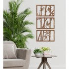 Bamboo Wall Art in Situ in the Living Room