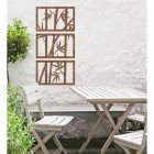 Bamboo Wall Art in Situ Above a Wooden Table & Chair Set
