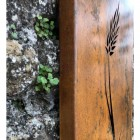 Close-up of the Rustic Finish on the Barley Wall Art