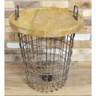 Basket Side Table
