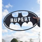 'Batman' Personalised Wall Art to Scale