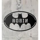 'Batman' Personalised Wall Art on a Rustic Wall