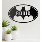 'Batman' Personalised Wall Art in a Living Room