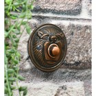 ornate round lion face door bell