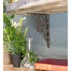 Ornate natural iron kitchen shelf bracket