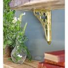 Beautiful traditional polished brass shelf bracket