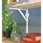 White simplistic shelf bracket