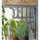 Greek design wall mounted shelf bracket