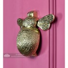 Polished Brass Bumblebee Door Knocker