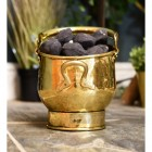 Polished Brass Coal Bucket