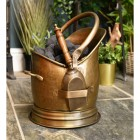 Antique Bronze Coven coal scuttle with shovel