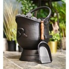 Black Coal Bucket with Shovel