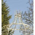 Patio metal gazebo, crown finial