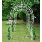 Cream tubular iron rose arch (3 Arches)