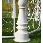 Close up of aluminium base support pillar