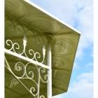 Garden pavillion - ornate scroll work on underside of roof