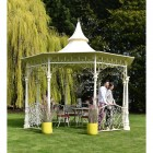 old English sytle bandstand wih intictae scroll work