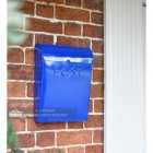 Galvanised steel wall mounted post box