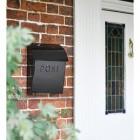 Black Metal wall mounted post box