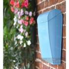 Modern Light blue post box with curved lid