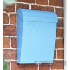 Robust post box with curved lid