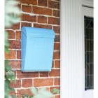 Light Blue contemporary post box