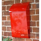 Apple Red newspaper & letter wall mounted post box