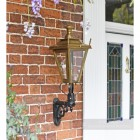 Outdoor garden wall lighting, antique brass finish