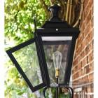 Black Dorchester Lantern on Royale Bracket 95 x 48cm