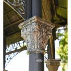 beautiful casting on pillars on pavilion
