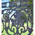 Ornate casting on handrails