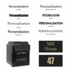 Post Box Personalisation Font Options