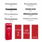 Personalisation otpions