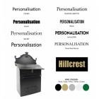 Deluxe Post box customisation options