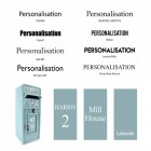 Post Box Personalisation available in selected fonts