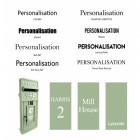Personalisation service - available font Options
