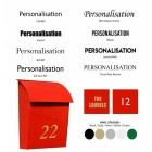 Post box personalisation options