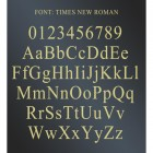The Font Available on the House Number sign